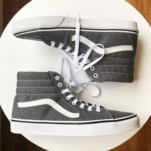Men's 10.5 Vans SK8-HI high tops - Dark Grey